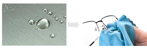 عملکرد پوشش آب گریز در عدسی عینک طبی